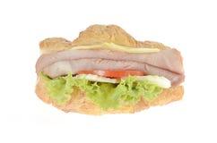 Skinkaostsmörgås Arkivbilder