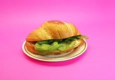 Skinksmörgås med ost och grönsallat Arkivbilder