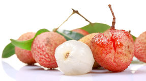Skinless litchi Stock Images