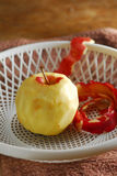 Skinless peel apple Royalty Free Stock Photography