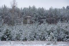 Skinn lyftt vinter Arkivbild