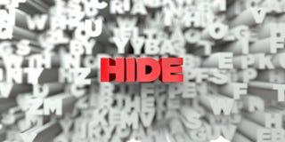 SKINN - Röd text på typografibakgrund - 3D framförde fri materielbild för royalty stock illustrationer