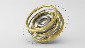 Skinned Particle Objects rings Royalty Free Stock Photo