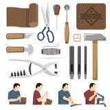 Skinner Tools Decorative Icons Set Royalty Free Stock Images