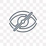 Skinnvektorsymbol som isoleras på genomskinlig bakgrund, linjärt skinn royaltyfri illustrationer