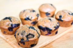 Skinny Banana Blueberry Muffins. Stock Images