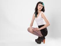 Skinny Fashion Model Royalty Free Stock Image
