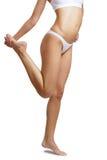Skinny female body on white background Stock Image