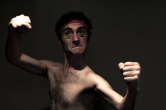 Skinny Fighter Stock Photography