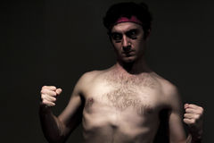 Skinny Fighter royalty free stock photos