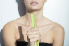 Skinny girl during restricted diet Stock Photography