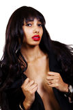 Skinny Light Skinned Black Woman Bare Chest Stock Photos