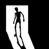 Skinny man silhouette  Stock Photos
