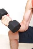 Skinny man workout Royalty Free Stock Photos