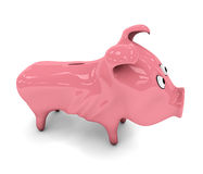 Skinny piggy bank Stock Photo