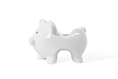 Skinny piggy bank Royalty Free Stock Images