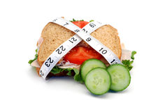 Skinny sandwich Royalty Free Stock Photos