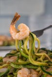 Skinny Shrimp Scampi with Zucchini Noodles Royalty Free Stock Photography