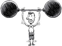 Skinny Strongman Stock Photography