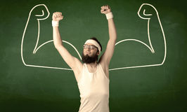 Skinny student wants muscles Stock Image