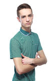 Skinny young man Royalty Free Stock Images