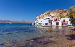 Skinopi settlement, Milos island, Cyclades, Greece Stock Image