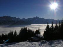 Skiort in Österreich Lizenzfreie Stockfotografie