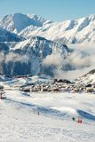 Skiort Lizenzfreie Stockbilder