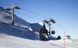 Skiort Chimbulak lizenzfreie stockbilder