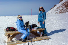 Skiort Chimbulak Stockbild