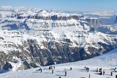 Skiort in den Dolomit Lizenzfreie Stockbilder
