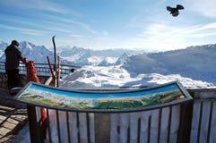 Skiort in den Dolomit Stockbilder
