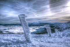 Skiort Dragobrat im Winter Stockfotografie