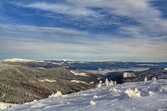 Skiort Dragobrat im Winter Lizenzfreies Stockbild