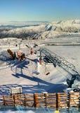 Skiort EL Colorado nahe Santiago stockfoto