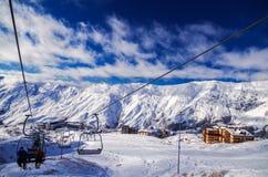 Skiort Gudauri, Georgia stockbilder