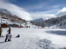 Skiort Isola 2000, Frankreich Stockfotografie