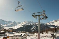 Skiort-Italien-Alpen Stockfotografie