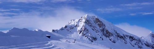 Skiort Kaprun Kitzsteinhorn stockfotos