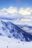 Skiort Krasnaya Polyana SOCHI Stockbilder