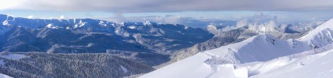 Skiort Krasnaya Polyana SOCHI Stockfoto