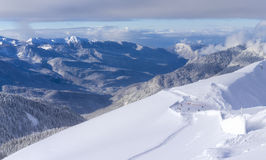 Skiort Krasnaya Polyana SOCHI Lizenzfreie Stockfotografie