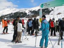 Skiort lagern herein, Andorra Stockbild