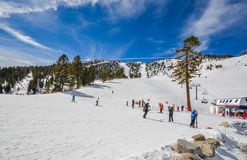 Skiort in Lake Tahoe lizenzfreies stockbild