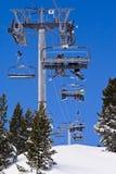 Skiort Les Lichtbogen. stockbild