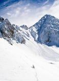 Skiort Les Lichtbogen lizenzfreie stockfotos