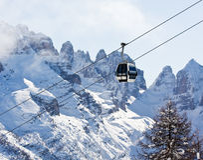 Skiort Madonna Di Campiglio Stockfotografie