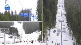 Skiort, Montage Bansko Bulgarien stock video