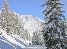 Skiort Schladming Österreich Stockbild
