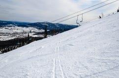 Skiort Sheregesh, Berg Shoria, Kemerovo Region, Russland. Lizenzfreies Stockbild